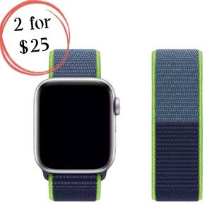 🎉NEW Blue Neon Lime Nylon Band for Apple iWatch
